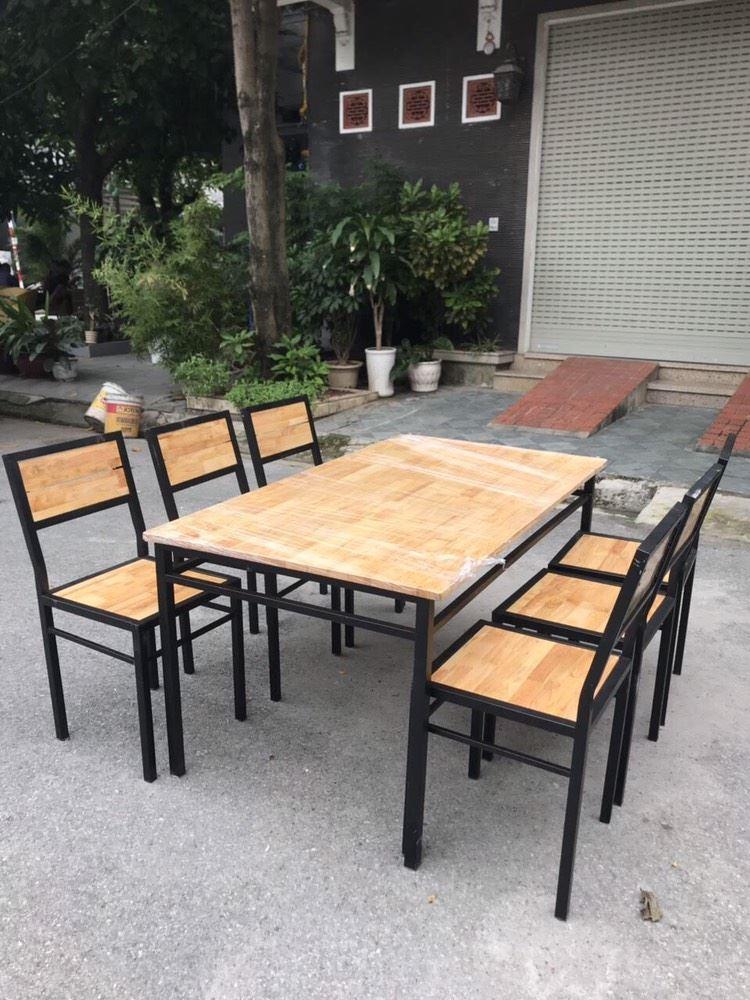 Bàn ăn 6 ghế nhà hàng mới