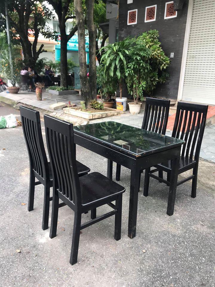 Bộ bàn ăn 4 ghế nhà hàng