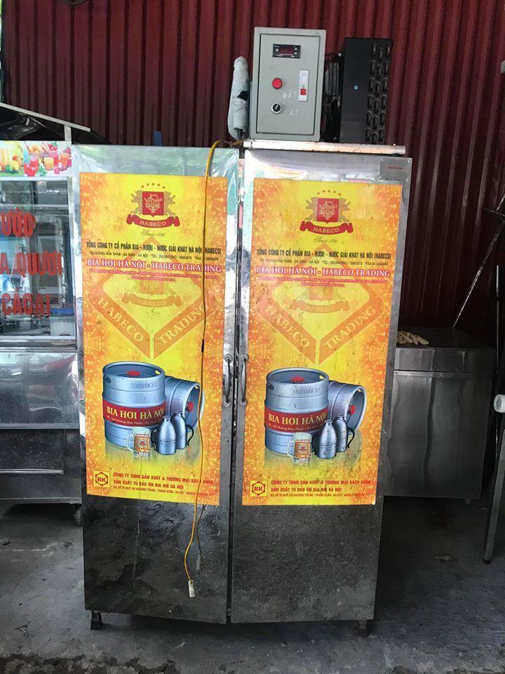 Tủ bia Hà Nội 2 cánh 8 bom