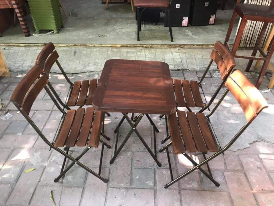 Bộ bàn ghế gấp Fansipan patio mini