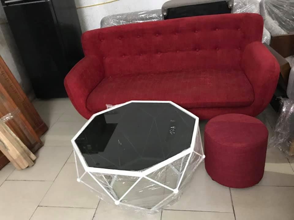 Sofa văng đỏ 1m6