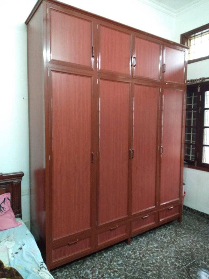 Tủ quần áo 4 cánh nhôm Việt Pháp