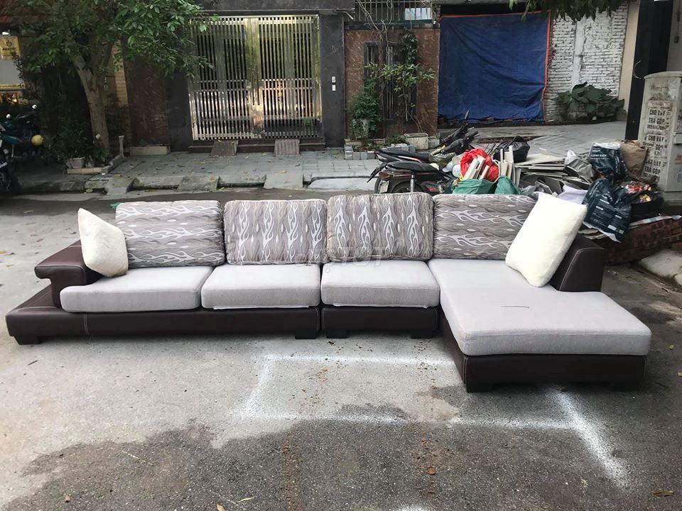 Bộ sofa da chữ L sịn, hàng nhập khẩu